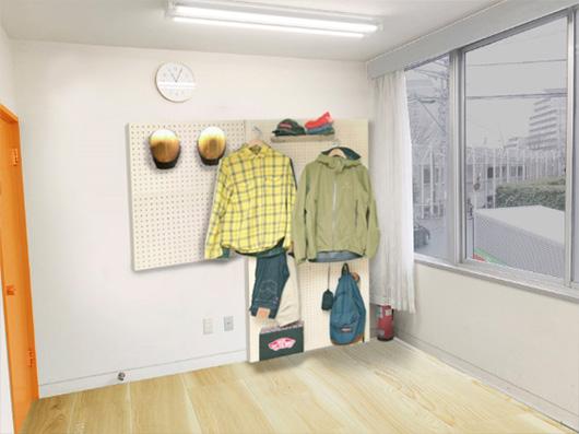 壁はディスプレイ棚にして手に取りやすく